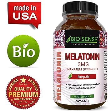 Pure Melatonin Sleep Aid – Fall Asleep Fast + Easier Best All Natural Supplement – Deep