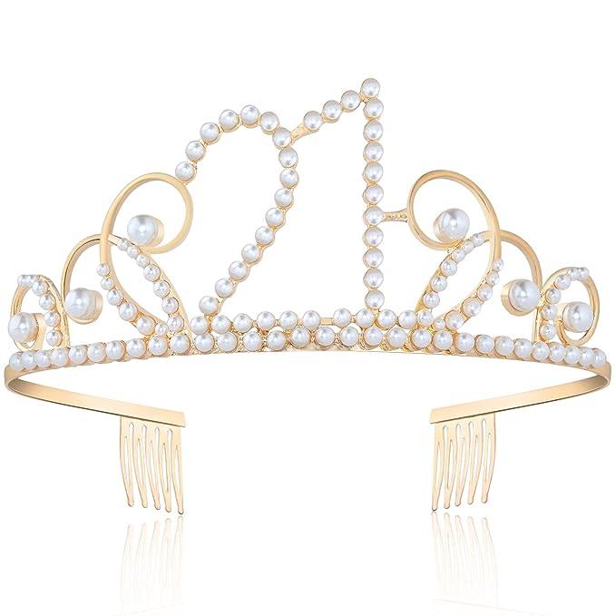 Coucoland - Corona decorativa de cumpleaños con perlas, para ...