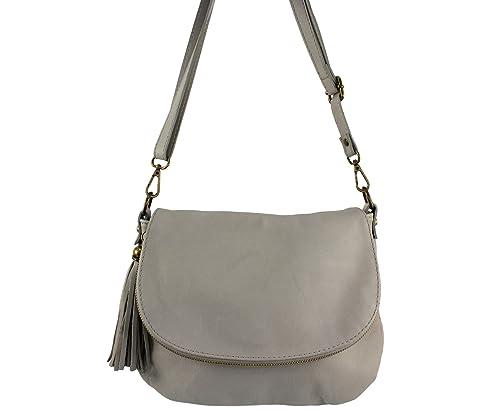 Sac bandouliere cuir Mavy Italie - Gris Clair - sac a main cuir femme Sac 108c4c1f740a