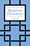 Blackfoot Dictionary of Stems, Roots, and Affixes: Third Edition