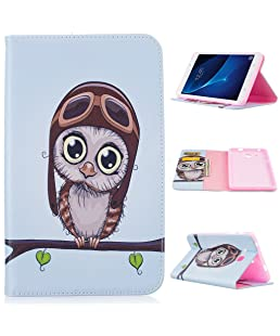 Yiizy Case Cover for Samsung Galaxy Tab A 7.0(2016)/T280 Case, Owl Style Premium Leather Slim Fit Standing Protective Cover ID & Credit Card Slots Pockets Magnetic Strap Wallet Pouch Flip Cover Case