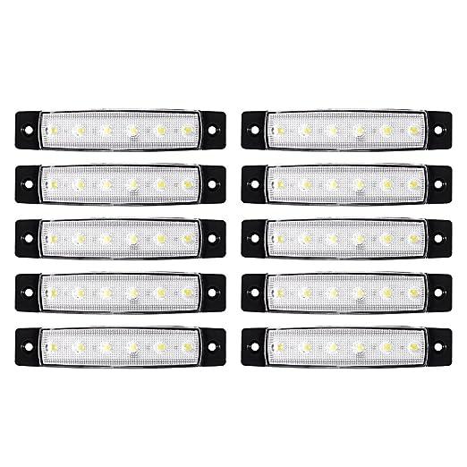 2 opinioni per XCSOURCE 10pcs 6 LED SMD Front Side posteriore Marker Indicatori lampada di coda
