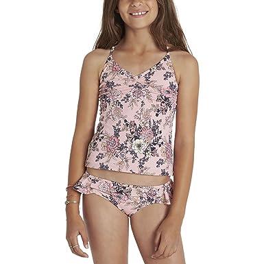 7f38d569b0662 Billabong Kids Girl s Beach Beauty Tankini Set (Little Kids Big Kids) Dusty  Rose