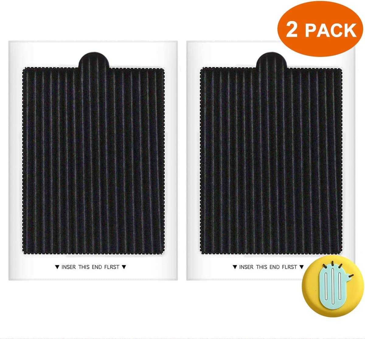 Refrigerator Air Filter Replacement Compatible with Frigidaire PAULTRA, SCPUREAIR2PK, Electrolux EAFCBF (2 PCS)