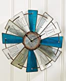 Lakeside Collections Metal Windmill Wall Clock (Metal Windmill Wall Clock, Coastal)