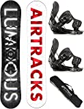 AIRTRACKS SNOWBOARD SET / LUMINOUS SNOWBOARD WIDE + BINDUNG FLOW FIVE + SB BAG / 152 157 159 162 / cm