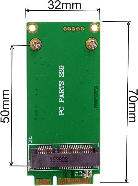 cablecc 3 x 5 cm mSATA adaptador para 3 x 7 cm Mini PCI-E sata ssd ...