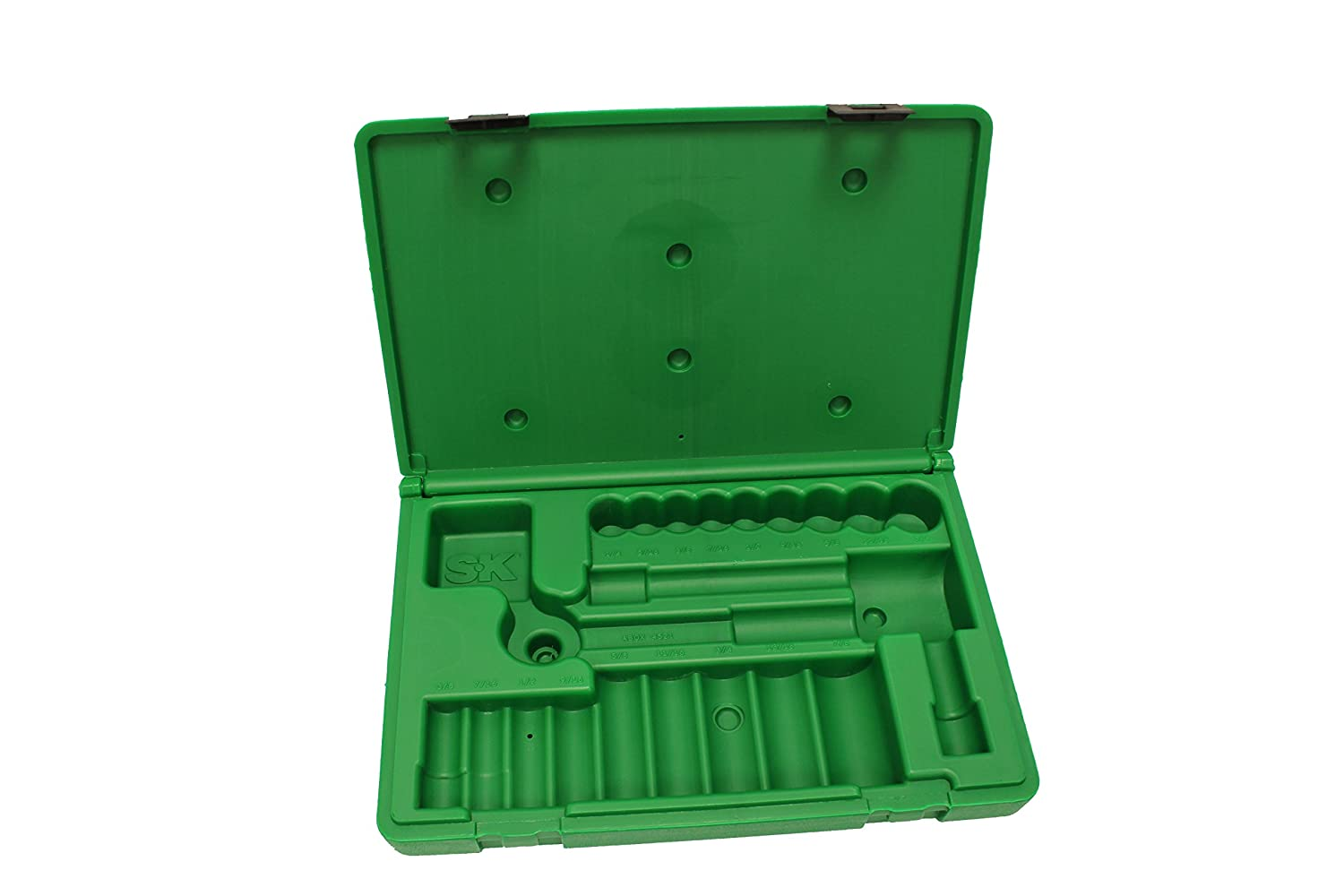 SK Hand Tool ABOX-4521 Blow-molded replacement case for 4521 and 4551 3//8 Drive Socket Sets Green