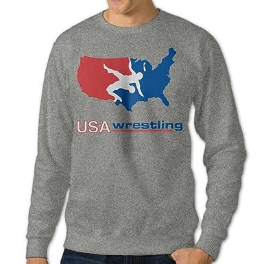 Mens' USA Wrestling Crew-Neck Hoodies Sweatshirts at Amazon Men's ...