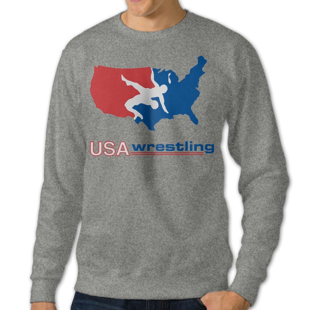 Mens USA Wrestling Crew-Neck Hoody Sweatshirts by MEN Hoodies