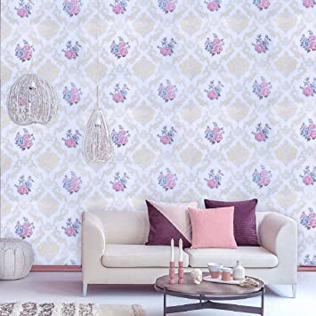 Buy Jaamso Royals Vinyl Damask Self Adhesive Peel And Stick Wallpaper Contact Paper 45 X 1000 Cm Multicolor Self Adhesive Wallpaper 9134 Jrw Online At Low Prices In India Amazon In