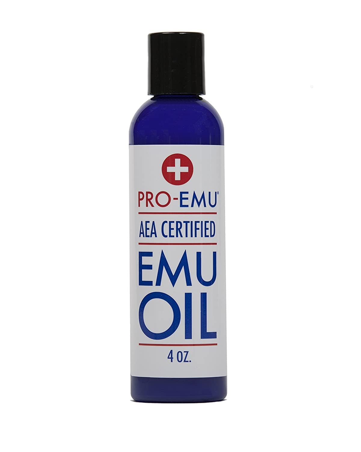PRO EMU OIL (4 oz) Pure All Natural Emu Oil - AEA Certified - Made In USA - Best All Natural Oil for Face, Skin, Hair and Nails. Excellent for Dry Skin, Burns, Sunburns, Scars, Muscles and Joints