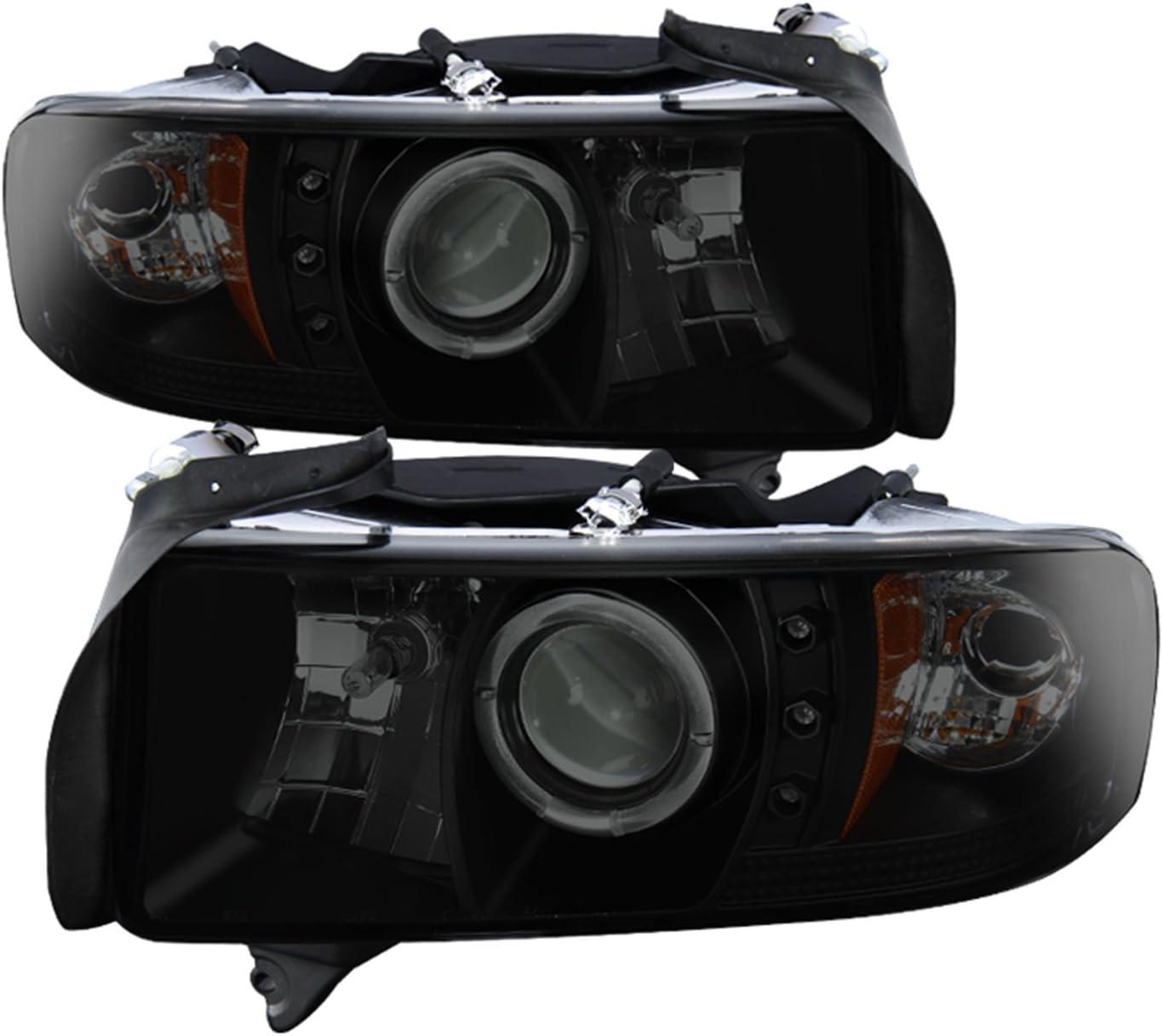 LED for 94-01 Ram 1500 /& 94-02 2500//3500 Spyder Projector Headlights CCFL Halo