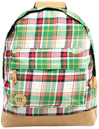 Men Mi-Pac Tartan Backpack - Green UK