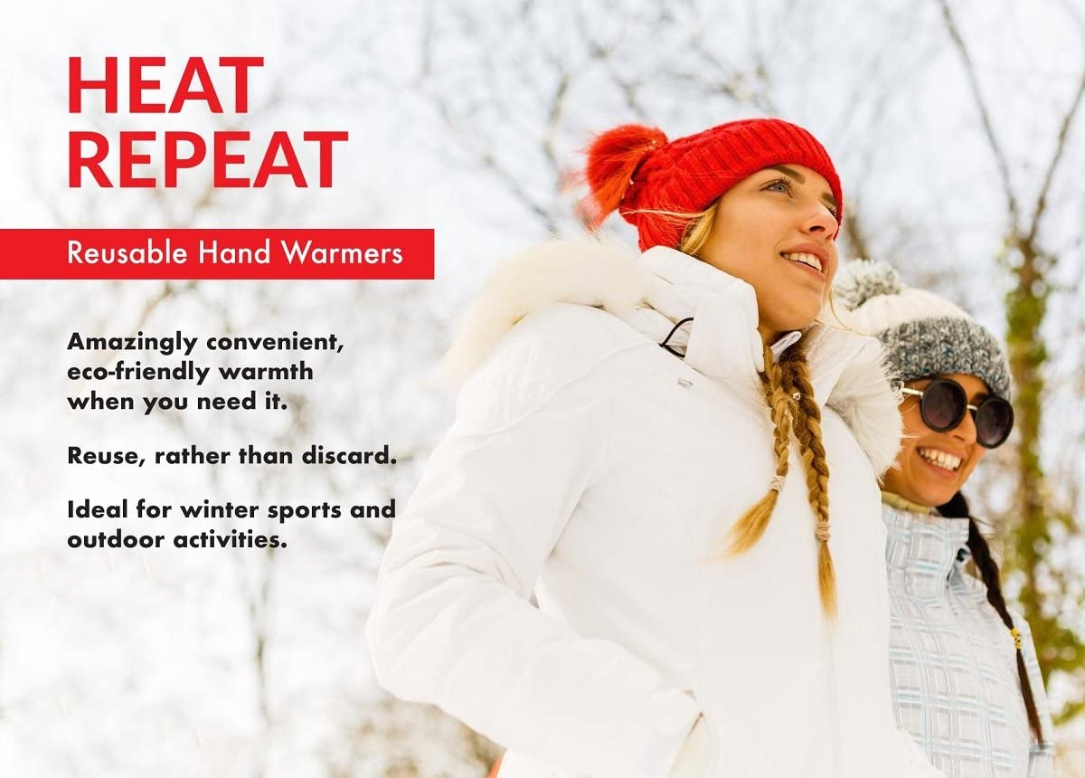 Perfect for Football REACH and EU Tested Skiing Pocket Size Portable Safe. Sports Reusable Click Heat Pads Packs of 2 Instant Hand Warmers Outdoor Activities