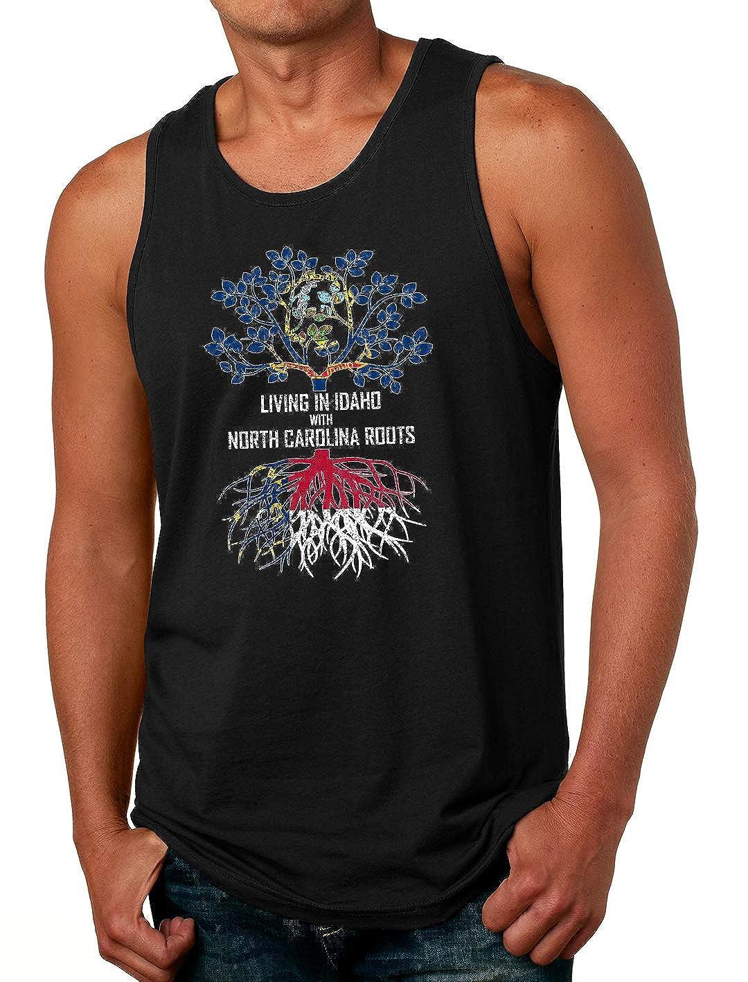 Tenacitee Mens Living in Idaho North Carolina Roots T-Shirt
