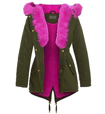 SS7 femmes rose fausse fourrure manteau parka, Tailles 8 pour 16   Amazon.fr  Vêtements et accessoires ff05e0e10c5e