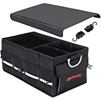 Autoark Multipurpose Car SUV Trunk Organizer with Cover and Straps,Durable Collapsible Adjustable Compartments Cargo…