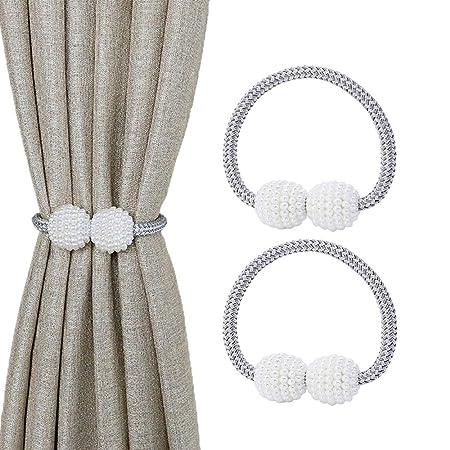 Paquete de 2 corbatas de cortina magnéticas, pequeños clips de ...