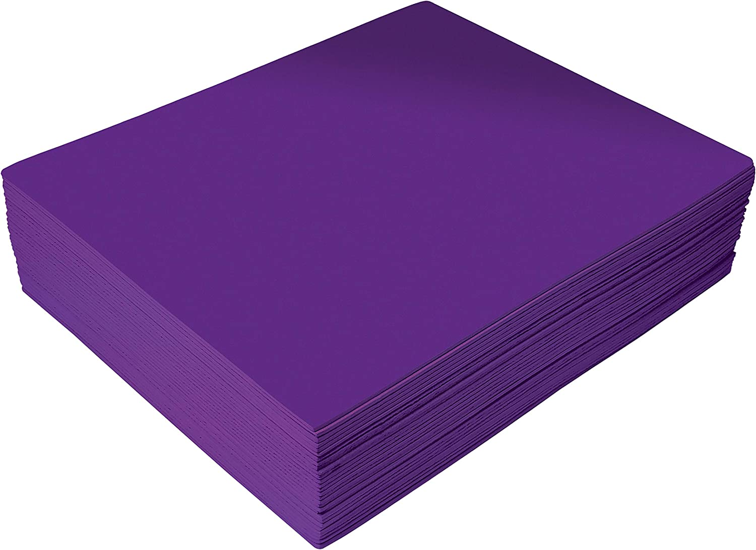 Purple EVA Foam Sheets, 30 Pack, 2mm Thick, 9 x 12 Inch, by Better Office Products, Purple Color, for Arts and Crafts, 30 Sheets Bulk Pack
