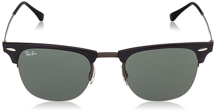 01870d19fe ... shopping amazon ray ban titanium man sunglass blasted gunmetal frame  green lenses 51mm non polarized ray