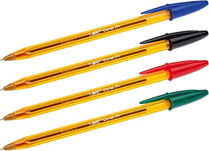 BIC 962705 - Cristal Original Fine Bolígrafos de Punta Fina (0,8 mm) - Varios Colores, 2 Packs de 10: Amazon.es: Oficina y papelería