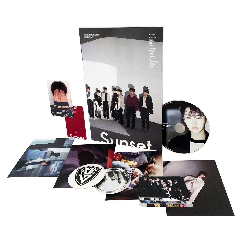 DIRECTOR'S CUT [ SUNSET Ver. ] - SEVENTEEN Special Album CD + Photobook + Photocard + Postcard + Lenticular card + Official Poster + FREE GIFT / K-POP Sealed