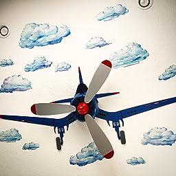 Hunter Fan Company 59031 Fantasy Flyer 48-Inch Blue Ceiling Fan ...