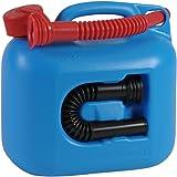 hünersdorff Kraftstoff-Kanister PREMIUM 5l für Benzin, Diesel und andere Gefahrgüter, UN-Zulassung, made in Germany, TÜV-geprüfter Produktion, blau