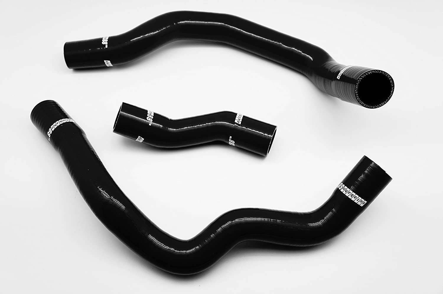 SPI 1.3I Black -with Clamp Set Autobahn88 Radiator Coolant Silicone Hose Kit fits for 1990-1999 Mini Cooper Rover