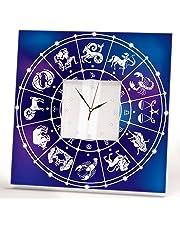 Astrología Signo Del Zodíaco Reloj De Pared Espejo Enmarcado Horóscopo Casa Arte Habitación Regalo