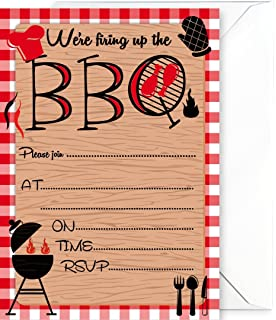 personalised bbq birthday party invitations x10 amazon co uk toys