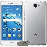 Funda Para Huawei Y7, Sunrive® Silicona Funda Slim Fit Gel Transparente Carcasa Case Bumper de Impactos y Anti-Arañazos Espalda Cover(tpu No hay un patrón) + 1 x Lápiz óptico