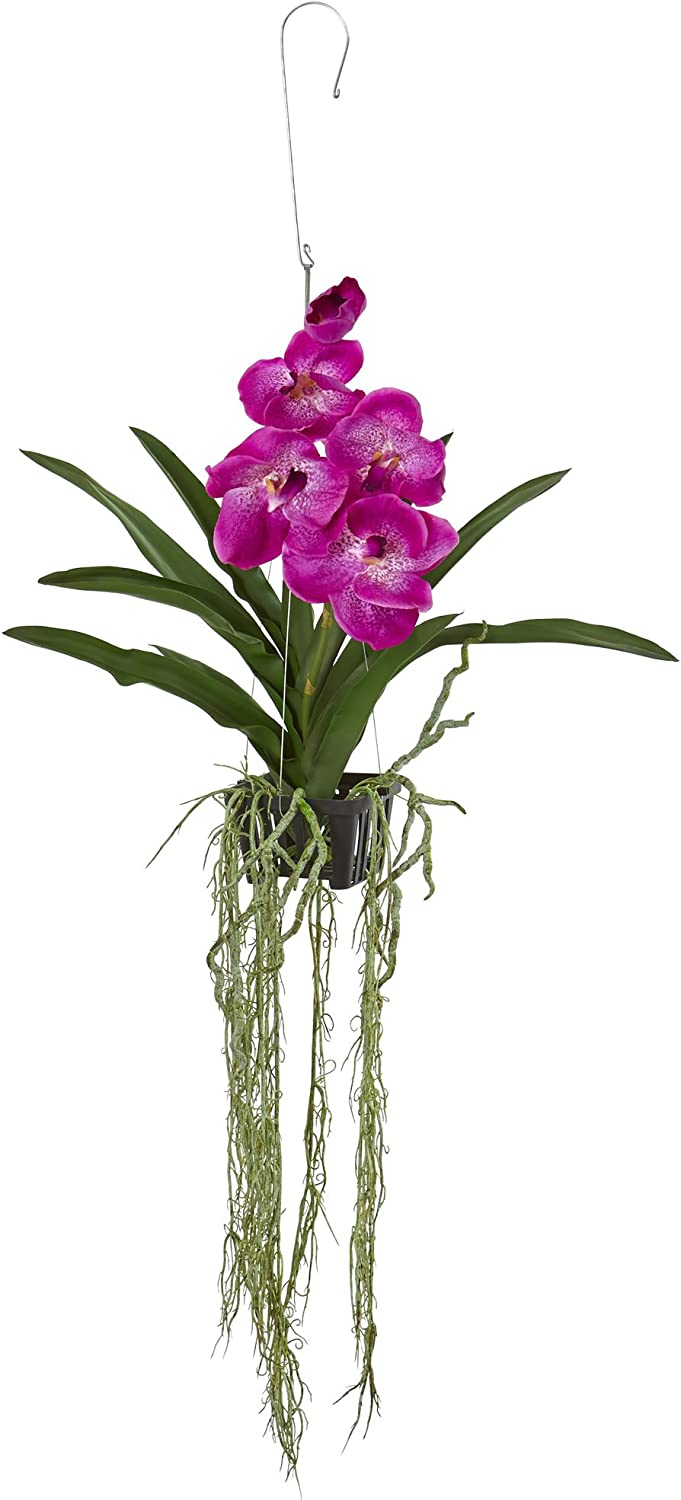 Hanging Faux Orchid Plant