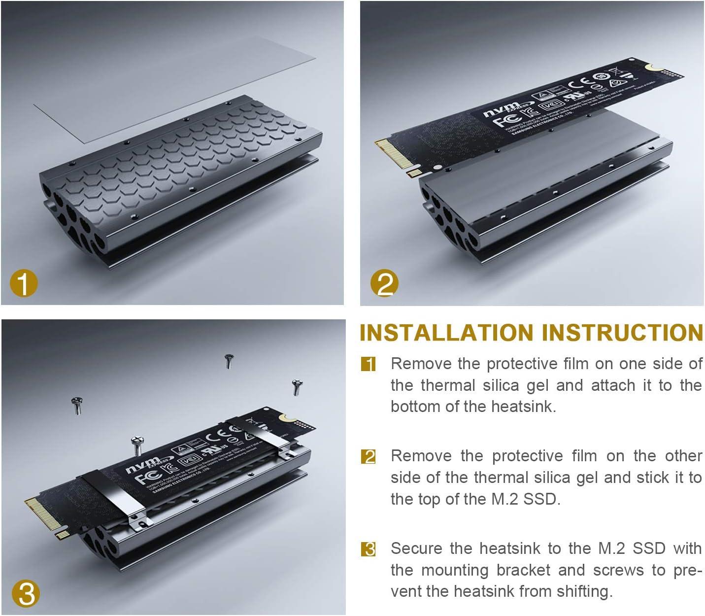 Rivo M.2 2280 SSD disipador de Calor para Escritorio, disipador de ...
