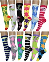 12 Pack Women Colorful Patterned Fashion Crew Socks by Frenchic