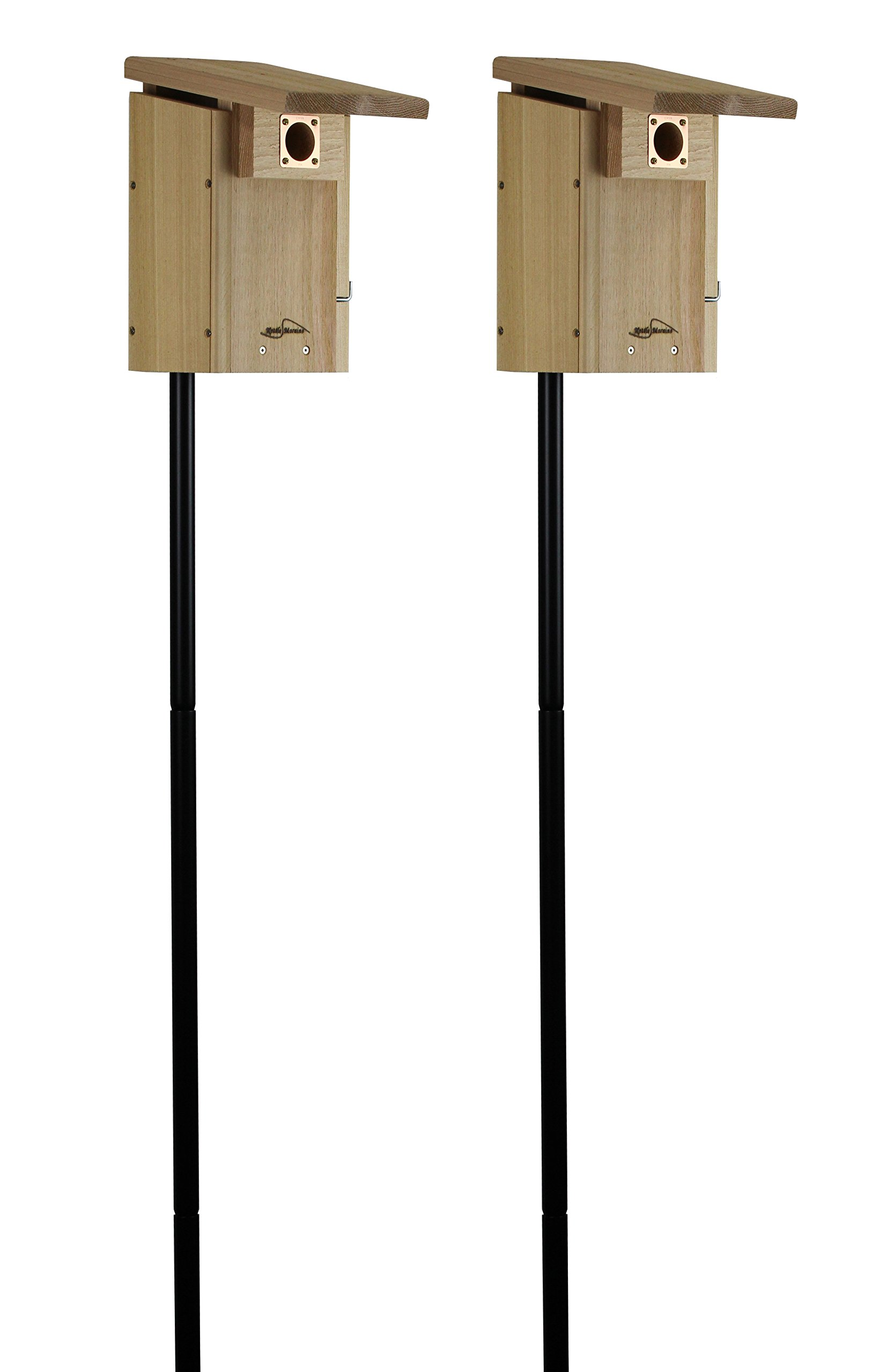 Kettle Moraine Cedar Super Bluebird House with Steel Pole Package (2)