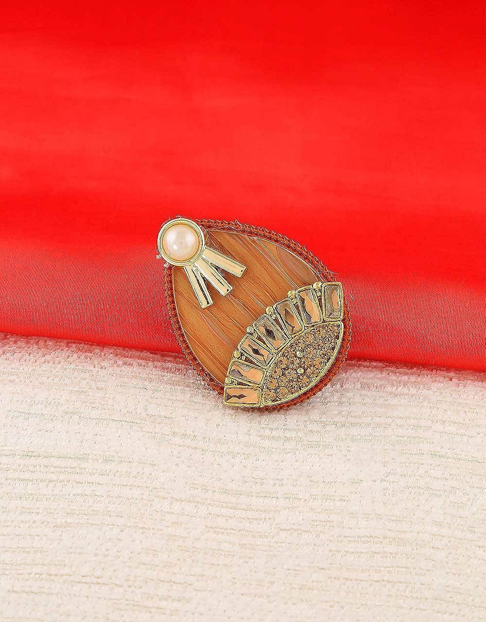 Anuradha Art Drop Shape Designer Classy Sari//Saree Pin for Women//Girls