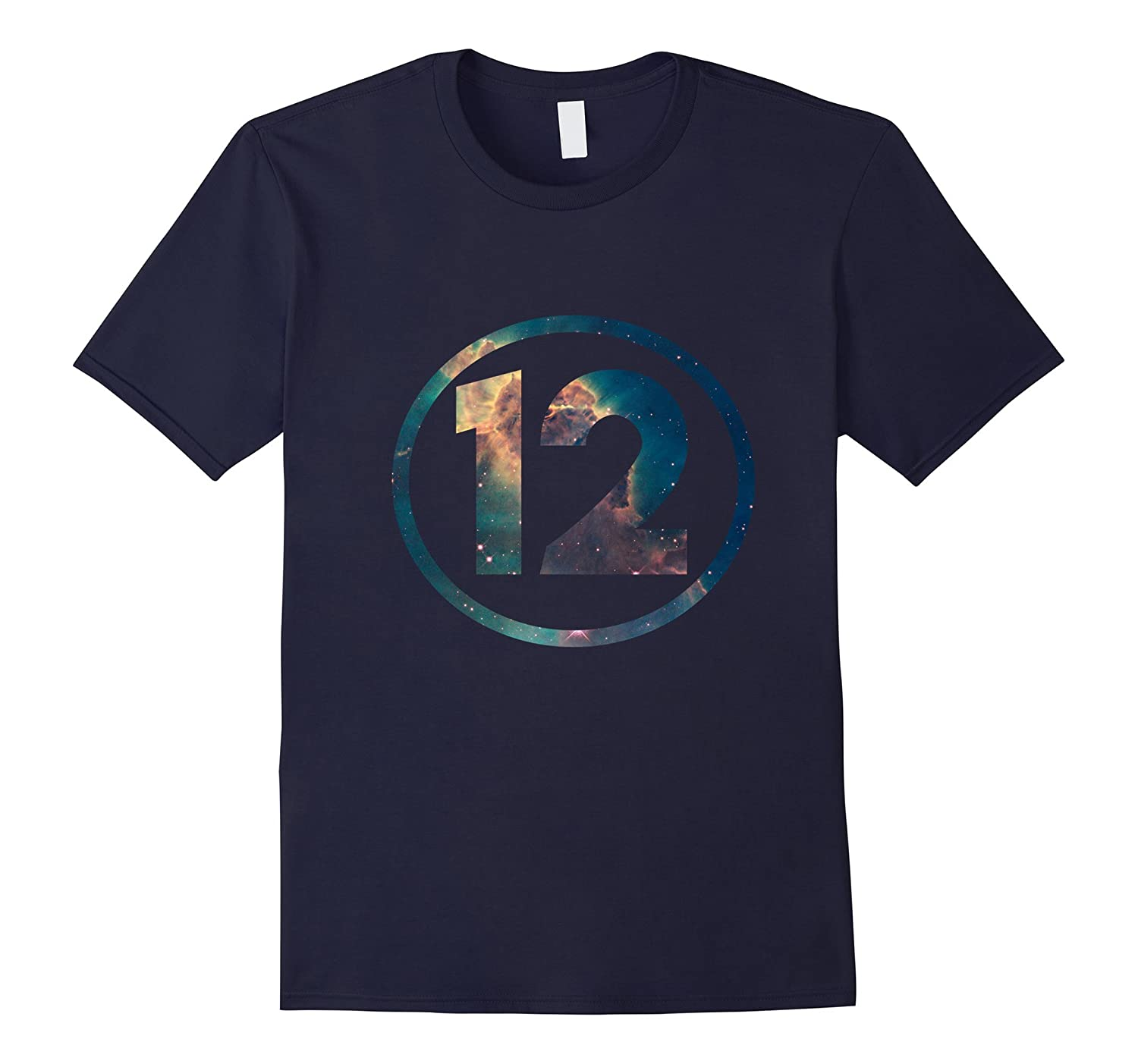 12th Birthday 12 Years Old Happy Birthday Space T-Shirt-TH