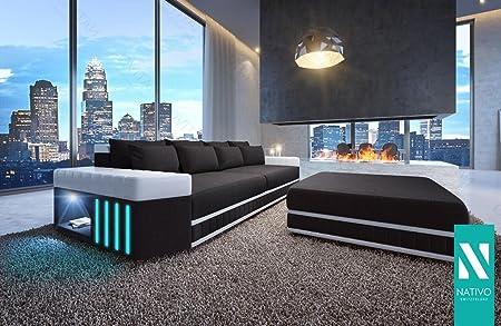 Nativo Ledermix Big Sofa Skyline Mit Led Beleuchtung Mobel 2 Jahre
