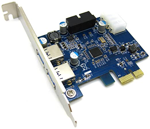 1 opinioni per 2 Port USB3.0 USB 3.0 to PCI-E PCI Express Card Adapter Converter w/ Motherboard