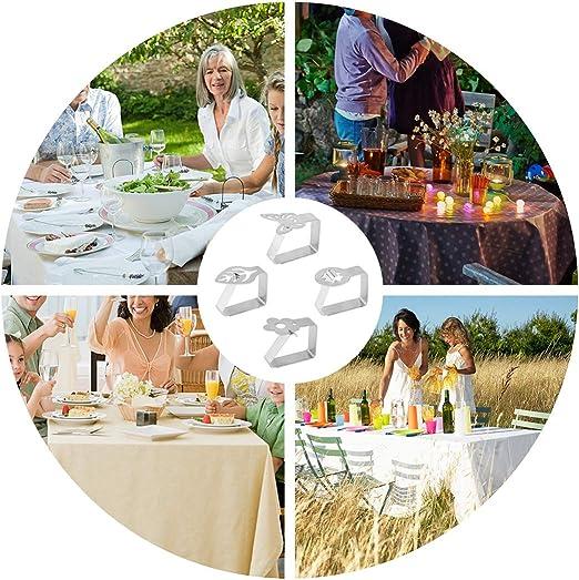 barbecue festa Set di 8pinze per tovaglia in acciaio inossidabile picnic matrimonio