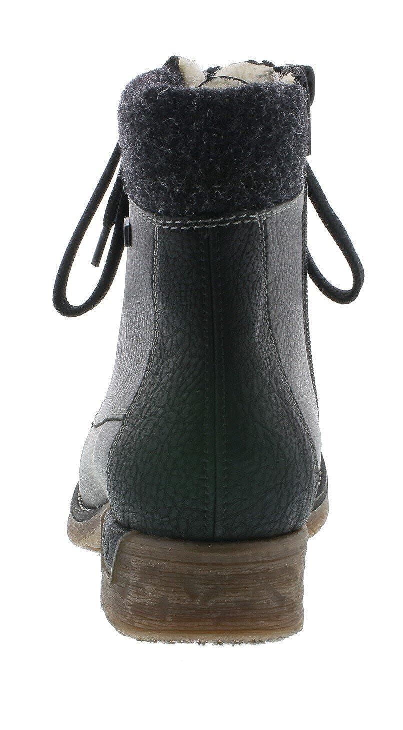 Rieker Damen Schnürstiefelette 79602 Frauen Stiefel Stiefel Stiefel Stiefel Halbstiefel SchnürStiefel Stiefelie gefüttert Winterstiefeletten Blockabsatz 3.2cm 071836