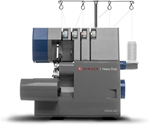 Singer | X5004HD Heavy Duty Serger with Metal Frame, 2/3/4 Thread Capacity, and 60% Larger Cutting Knife - Sewing Made Easy