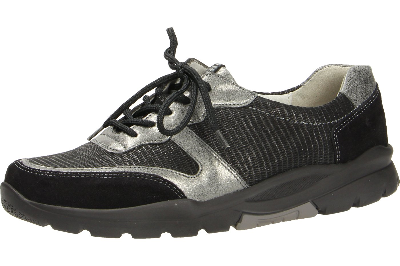 Waldläufer Haruka 345002t300564 zapato con cordones para mujer 38 EU Negros