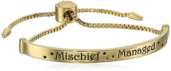 Harry Potter Gold Plated Mischief Managed Lariat Bracelet by Harry Potter