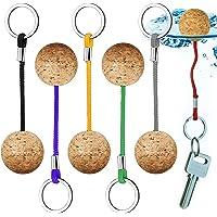 Yueser Flytande kork nyckelringar, 6 delar nyckelring flytrep kanot nyckel flytande nyckelring för simning dykning fiske…