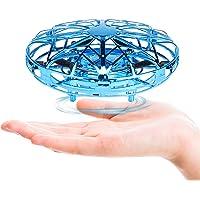 Mini Drone Fansteck UFO drone USB Ricaricabile, Sensori per elicottero a induzione a infrarossi interattivi per aeroplano Sensore a rotazione 360 ° comandato a mano con luce a LED Ideale e per bambini