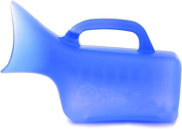 Gloveleya Female Plastic Urinals Women/'s Portable Potty Hospital Pee white-800ML