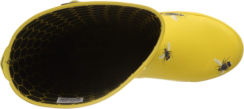 Joules Molly Welly, Botas de Agua para Mujer Dorado Gold Botanical Beetroot Gldbotb 7FTCb